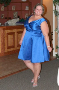 Me at a friend's wedding in June 2012, 55 pounds heavier.
