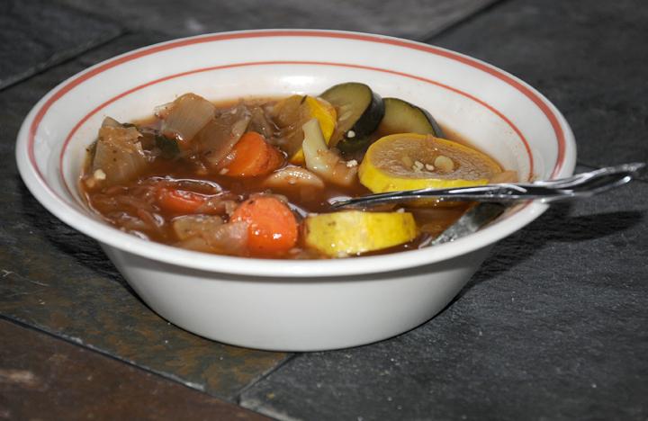 Delicious low-calorie soup.