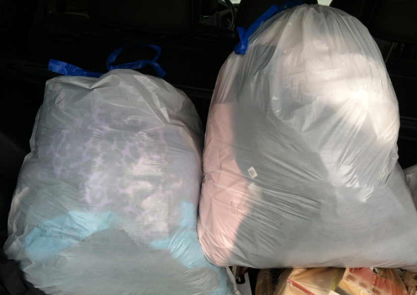 Goodbye bags of big clothes!