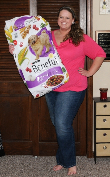 As of March 20, 2013, I have lost 37 pounds. This bag of dog food weighs 31.1 pounds. That helps put how much I have lost in perspective.