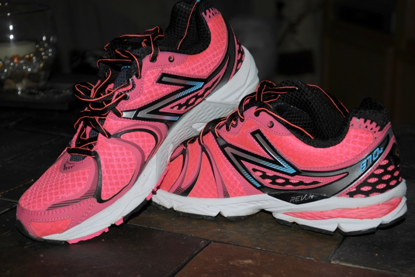 My new running sneakers. You'll be able to see me coming!