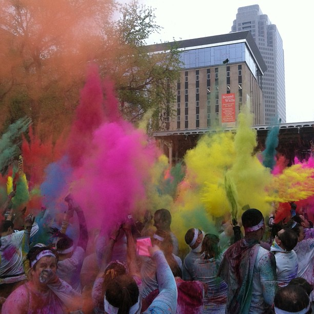 Post run color party.