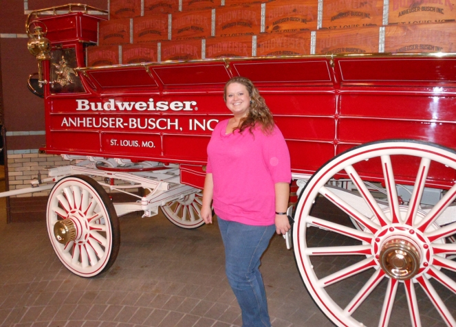 Me in front of one of the Budweiser wagons.