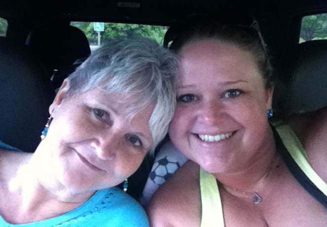 My fabulous mom and me on the drive to Massachusetts, somewhere in the hills of West Virginia.