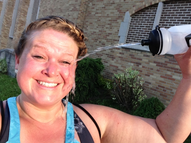 Cooling down after my afternoon ride.